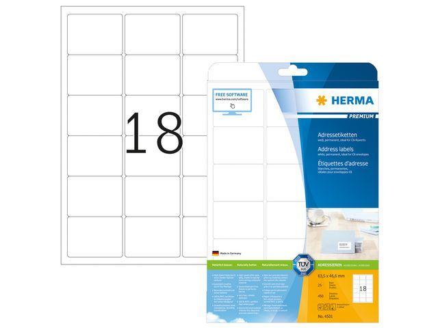 Herma Etiket ILC 64x47 prem wit/pk 450