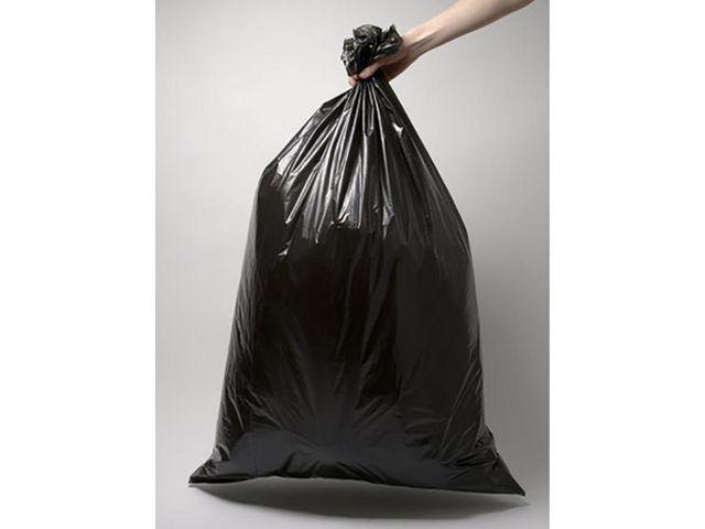 Afvalzakken. 45 x 50 cm. 16 liter. zwart. 25 afvalzakken per rol (doos 40 x 25 stuks)