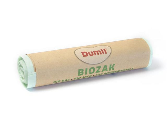 Afvalzak bio 60x80cm 60L groen (doos 12 x 8 stuks)