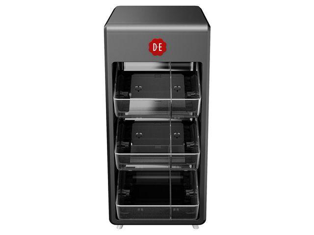 Douwe Egberts Dispenser voor koffiebenodigdheden DE zw