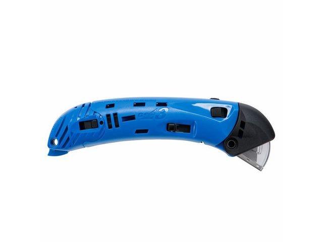 Snijmes automatisch terugtrekking blauw