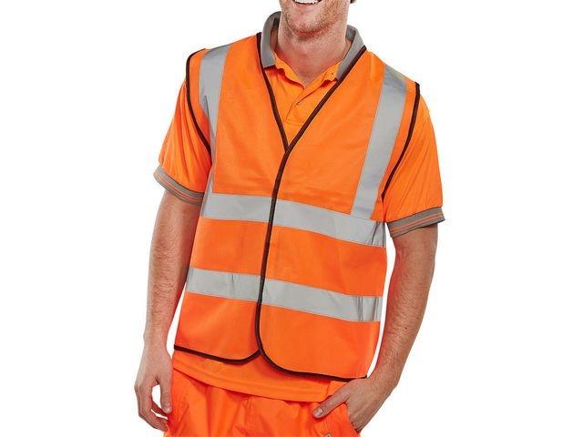 Veiligheidsvest Bseen oranje XL