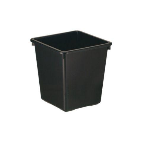 Papierbak kunststof 27L zwart