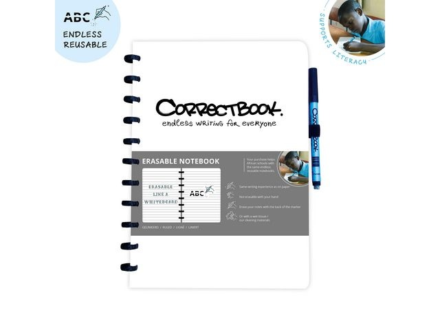 CORRECTBOOK Notitieboek Correctbook A4 lijn wit