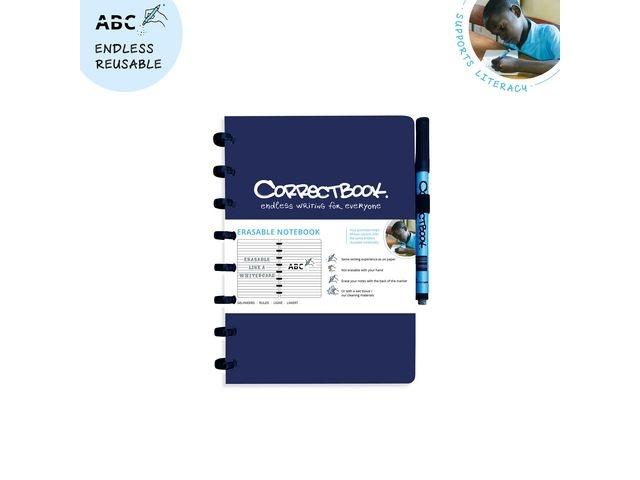 CORRECTBOOK Notitieboek Correctbook A5 lijn blauw