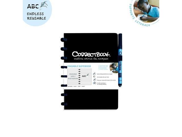 CORRECTBOOK Notitieboek Correctbook A5 lijn zwart