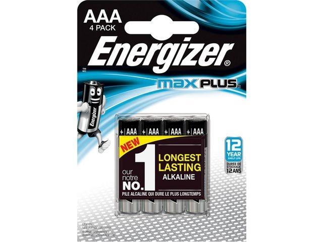 Energizer Batterij Energizer Max Plus AAA/pk4