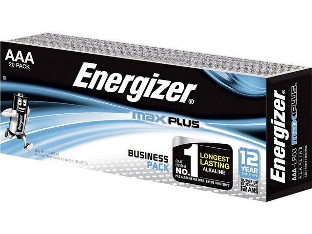 Energizer Batterij Energizer Max Plus AAA/pk20