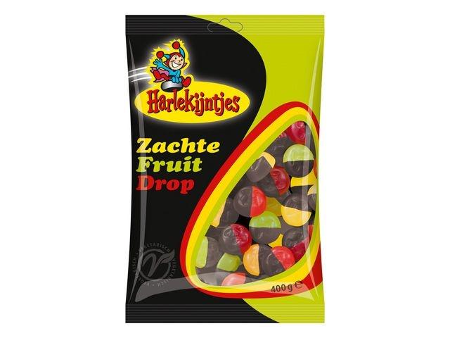 HARLEKIJNTJES Drop Harlekijntjes fruit drop/pk400g