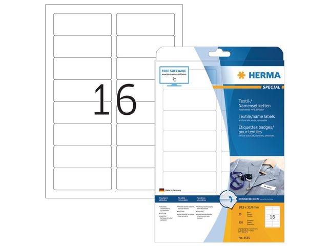 Herma Naametiket Herma LC 89x34 wit/pak 320