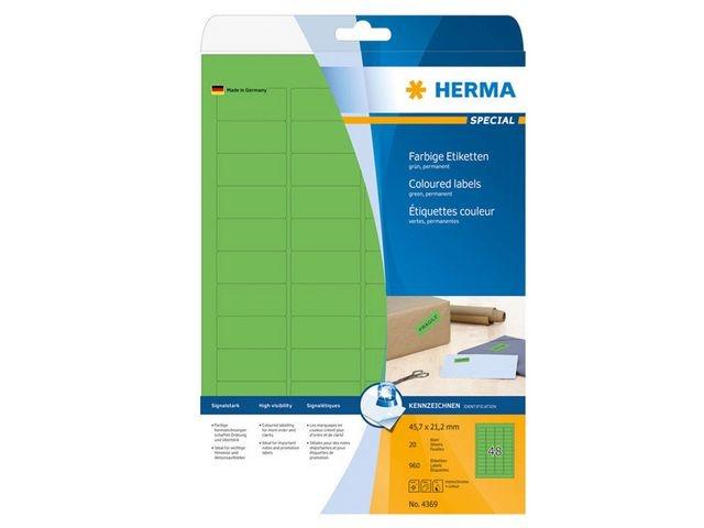 Herma Etiket ILC 46x21 groen/pak 960