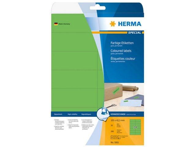 Herma Etiket ILC 105x42 groen/pk280