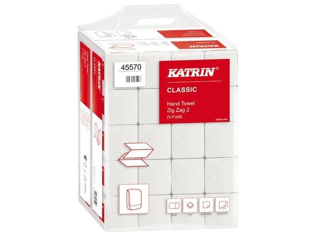 KATRIN Handdoek Katrin 2l ZZvouw wit/pk 20x200v