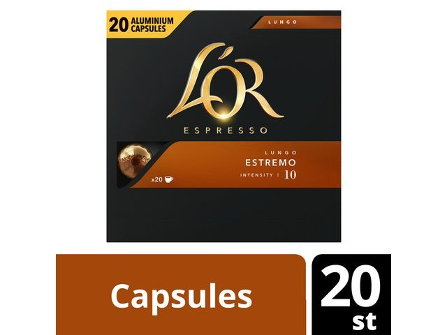 L OR Koffie capsules L OR LungoEstremo10/pk20