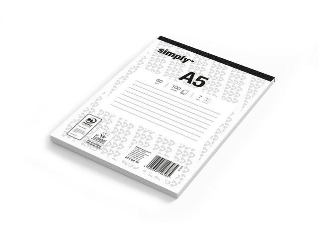 Simply Schrijfblok Simply A5 lijn 100v/pk5