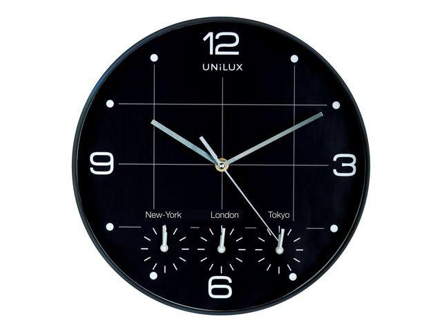 Unilux Klok Unilux On Time rond 30.5cm 4 tijden
