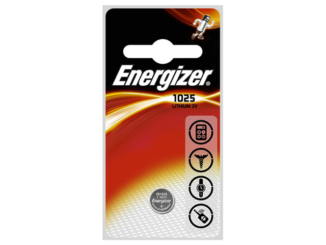 Energizer Batterij Energizer Knoopcel CR1025