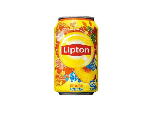 Lipton Frisdrank Ice tea perzik 0.33L blik/pk24