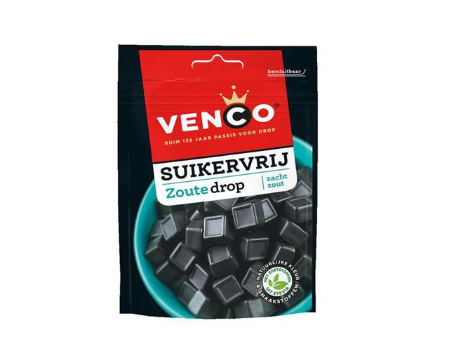Venco Drop suikervrij zout 100gr/ds12