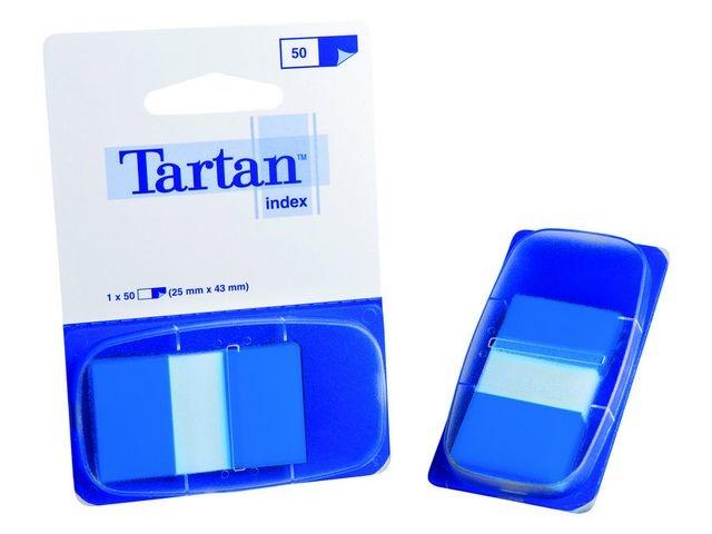 Tartan Index Tartan 25x43 blauw/pad 50 stuks
