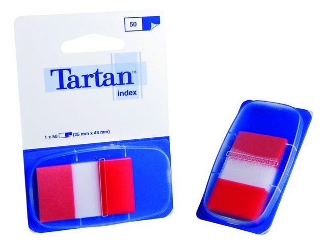 Tartan Index Tartan 25x43 rood/pad 50 stuks
