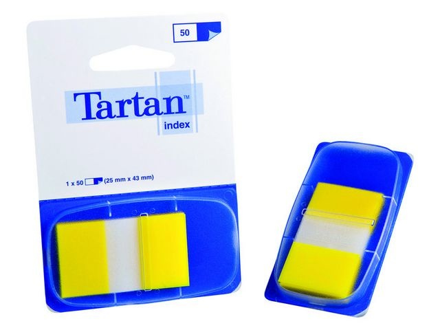 Tartan Index Tartan 25x43 geel/pad 50 stuks