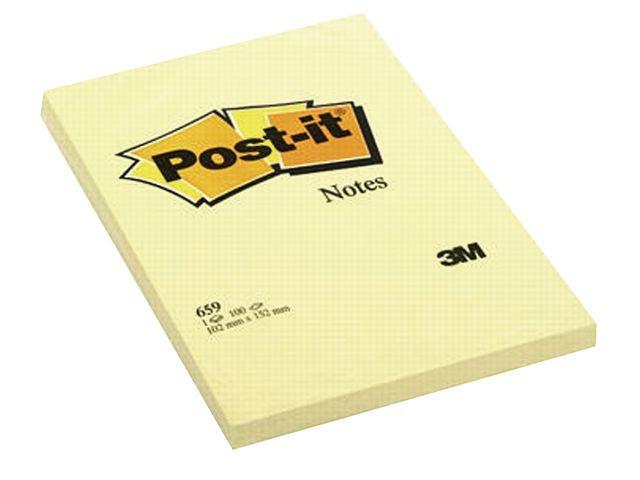 Post-it® Notitieblok Post-It 102x152mm geel/pk 6