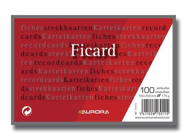 AURORA Systeemkaart Aurora 100x150 blanco/pk100