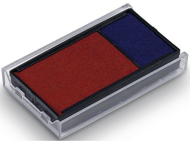 trodat Inktkussen Trodat 6/4912 rood/blauw/pk 2
