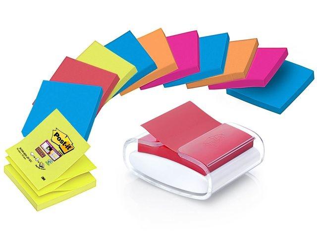 Post-it® Dispenser Z-note Pro incl. 12x 76x76 nn