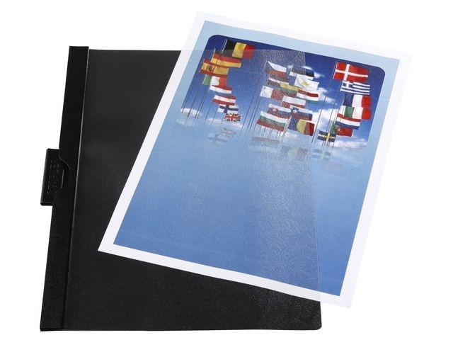 Staples Klemmap SPLS A4 3mm zwart/pak 5