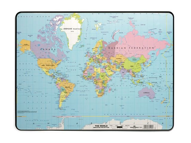 Durable Bureaulegger Durable wereldkaart 40x53cm