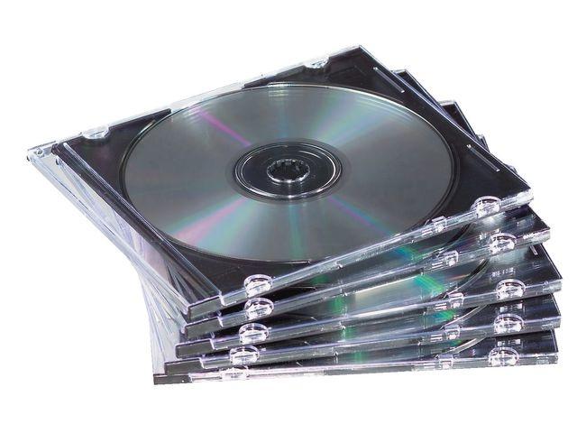 CD case slimline transp / pak 25