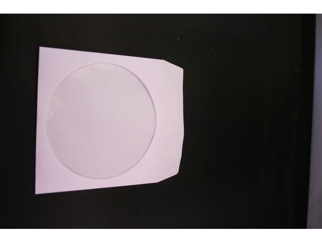 CD hoesje papier met venster/pak 50