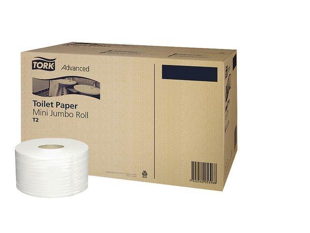 Tork Toiletpapier Tork T2 Adv Mini Jumb 2L/12