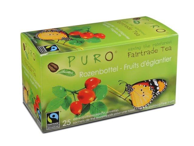 PURO Thee Puro fairtrade rozenbottel/pk6x25