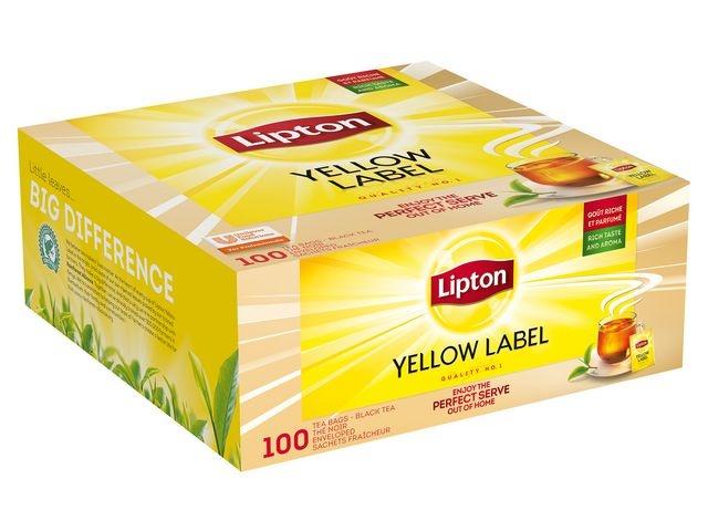 Lipton Thee Lipton FGS Yellow label/pk100