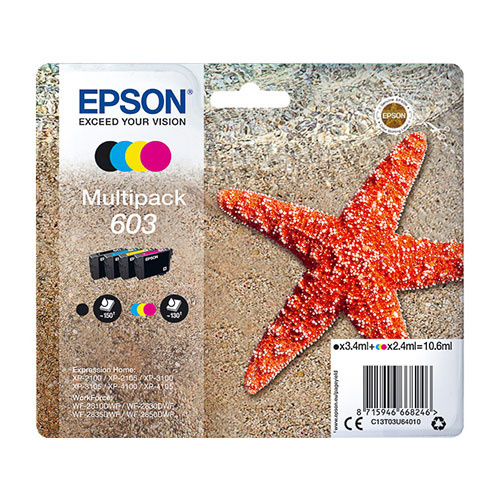 Epson Epson 603 (C13T03U64010) ink c/m/y/bk 10,6ml (original)