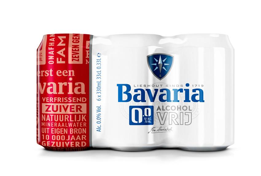 Bavaria Bier Bavaria 0.0% 0.33L blik/pk24