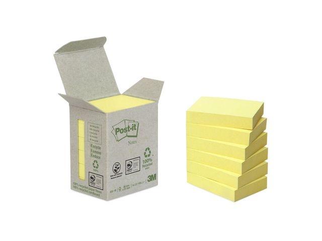 Post-it® Notitieblok 3M recycled 38x51 gl/pk6