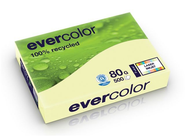 Clairefontaine Papier Evercolor A4 80g kan.geel/pk500