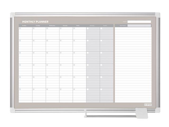 Bi-Office Planner maand 90x60 magnetisch