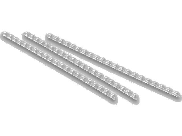 Bindrug plastic 19 mm, wit (pak 50 stuks)