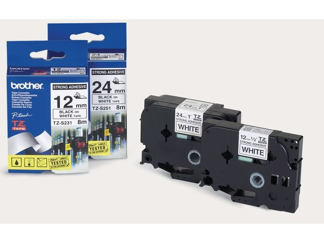 Brother Tape P-Touch TZ161 36mm zwart op transp