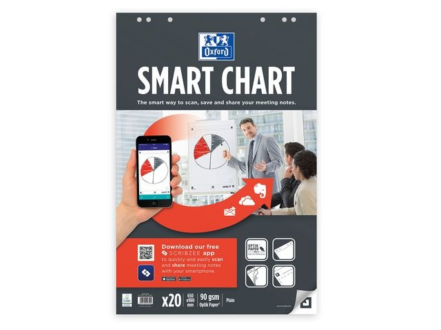 Oxford Flipoverblok SmartChart 650x980/pk3