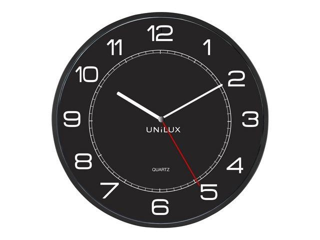 Unilux Klok Unilux Mega zwart