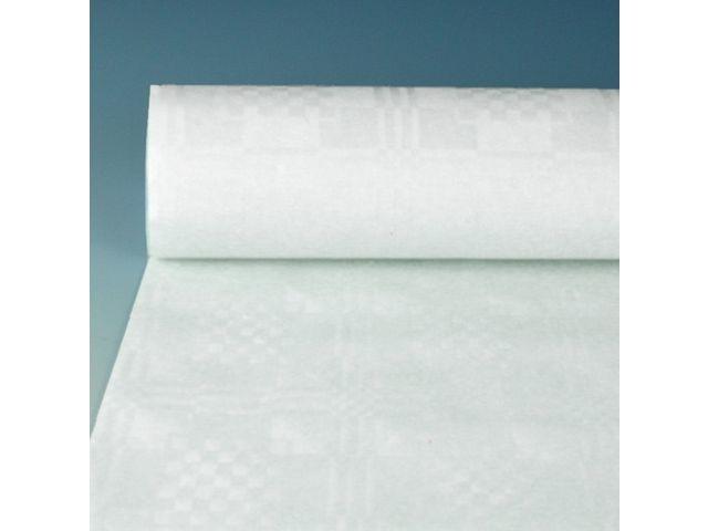 PAPSTAR Tafelkleed op rol 50mx120cm damast wit