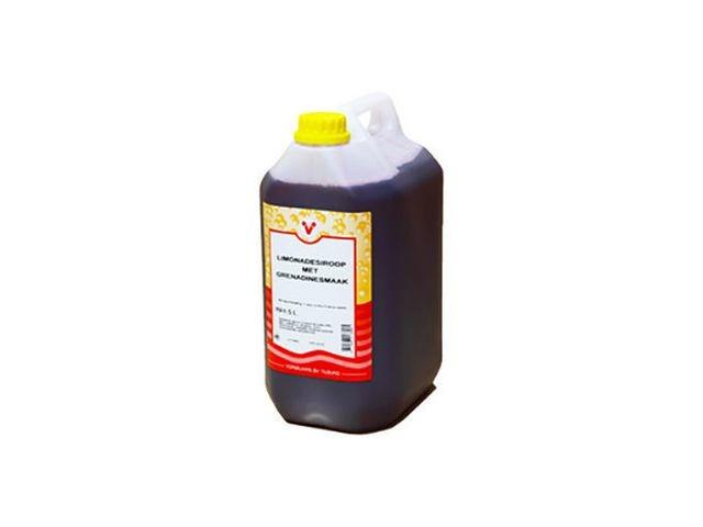 Limonadesiroop grenadine/can 5 ltr