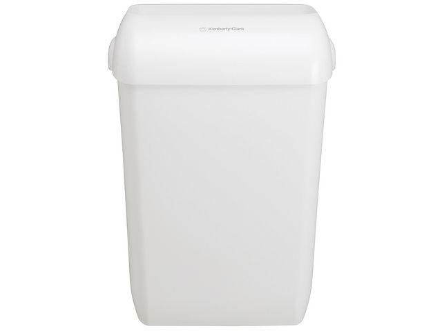 Aquarius (Kimberly-Clark) Aquarius (Kimberly-Clark) Vrijstaande sanitaire prullenbak plastic wit 44 l (pak 2 stuks)
