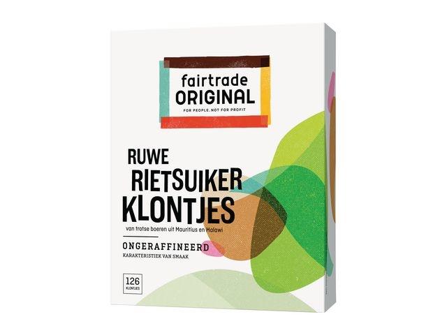 FAIR TRADE ORIGINAL Rietsuikerklontjes FT 4 gr /pk 500g